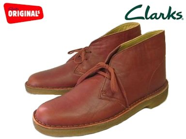 Clarks mens desert boots Burnt Orange Leather Clarks DESERT BOOT 20346881 BURNT ORANGE LEATHER UK standard leather