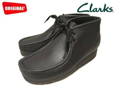 3c91ed96675 Clarks/ kulaki WALLABEE BOOT/ wallaby boots BLACK LEATHER 35401