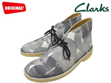 cae69e50723 SALE!! Clarks/ kulaki men DESERT BOOT/ desert boots WHITE/BLACK UK standard