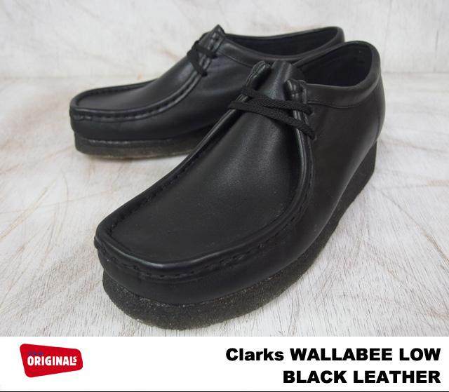 men's clarks wallabee black leather