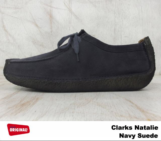 Clarks men's Natalie Navy suede shoes Clarks NATALIE 26103972 NAVY SUEDE UK standards