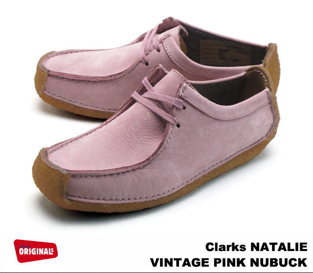 Clarks women s Natalie vintage pink n back shoes Clarks NATALIE 26111545  VINTAGE PINK NUBUCK UK standards 360880d43