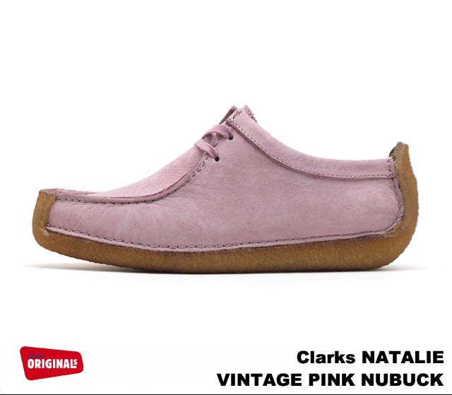 Clarks women s Natalie vintage pink n back shoes Clarks NATALIE 26111545  VINTAGE PINK NUBUCK UK standards 2c40c35816