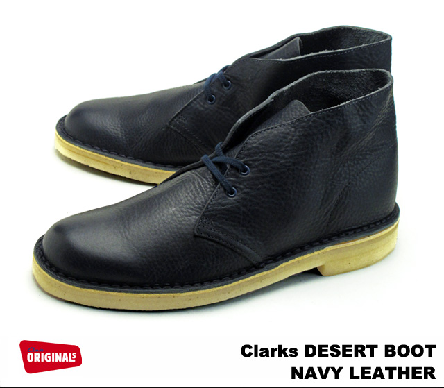 37b9b3086df Clarks desert boots Clarks DESERT BOOT 26112780 NAVY LEATHER and Navy  leather