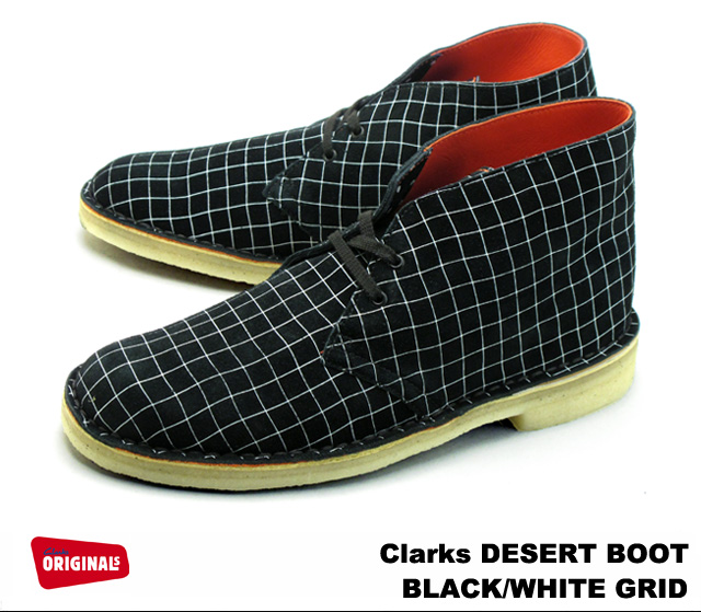 white clarks boots