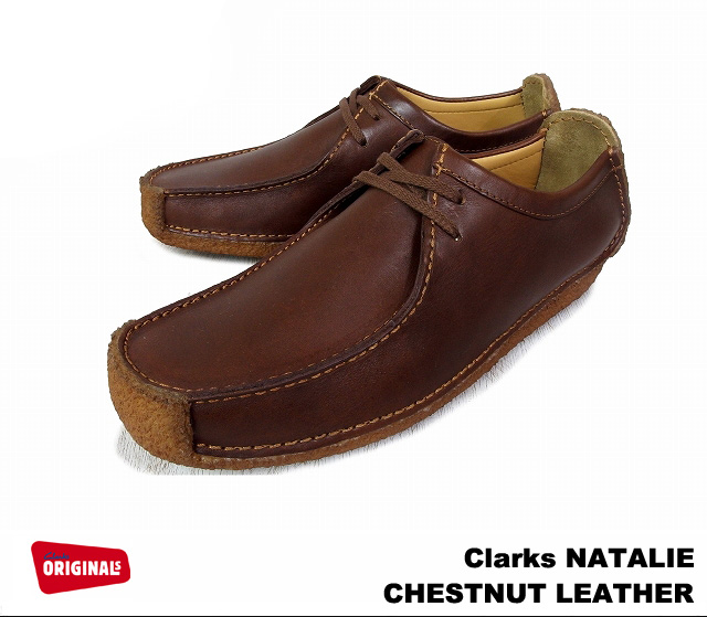 Clarks Natalie Womens Clarks Women's NATALIE chestnut leather CHESTNUT LEATHER 20319127