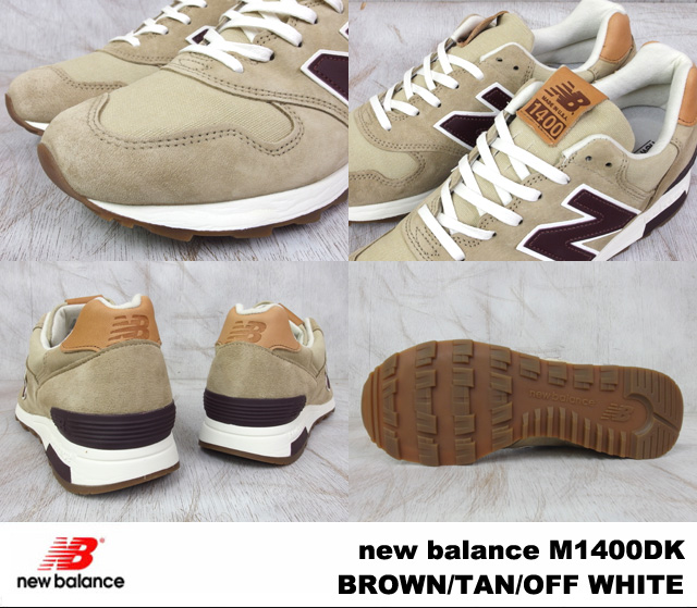 New balance M1400DK new balance M1400 DK BROWN/TAN/OFF WHITE / Brown / Tan / off-white WIDTH:D MADE IN USA made in USA