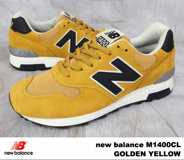 New balance M1400CL new balance M1400 CL GOLDEN YELLOW / golden-yellow WIDTH:D MADE IN USA made in USA men's women's sneakers