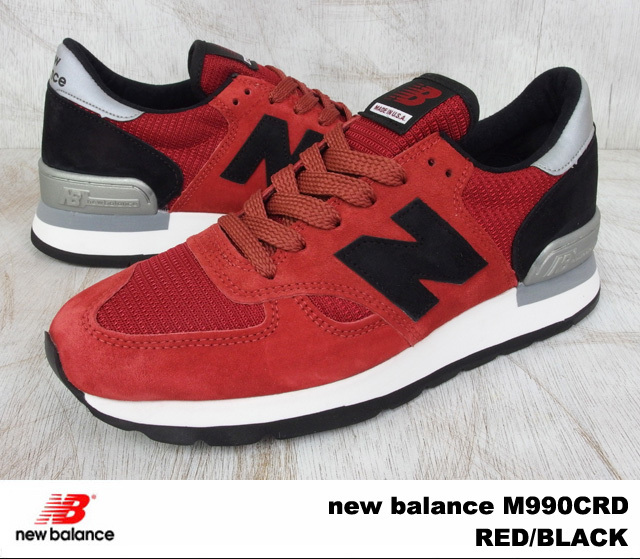 New balance 990 Red Black mens sneakers new balance M990 CRD new balance M990CRD RED/BLACK