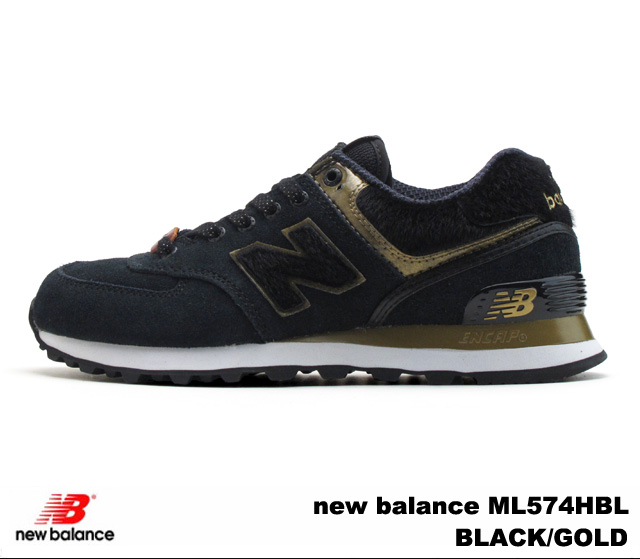 pretty nice 6cb61 40d17 New Balance 574 black gold new balance ML574 HBL newbalance ML574HBL BLACK  GOLD men gap Dis sneakers
