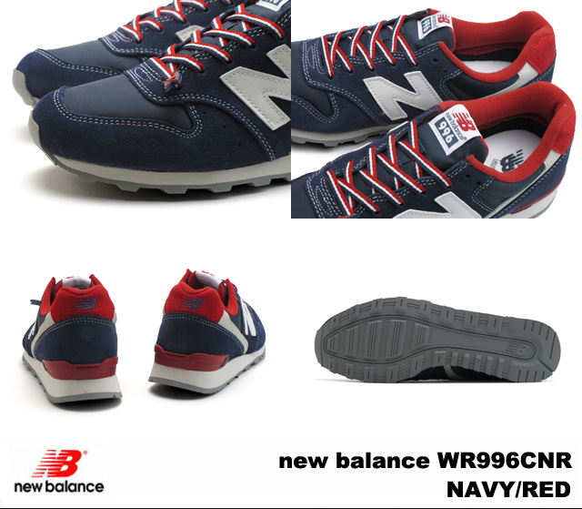 新平衡996深蓝红new balance WR996 CNR newbalance WR996CNR NAVY/RED女士运动鞋