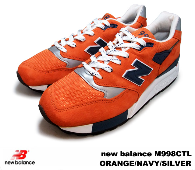 san francisco 515bb ae364 New Balance 998 orange navy silver new balance M998 CTL newbalance M998CTL  ORANGE/NAVY/SILVER men sneakers