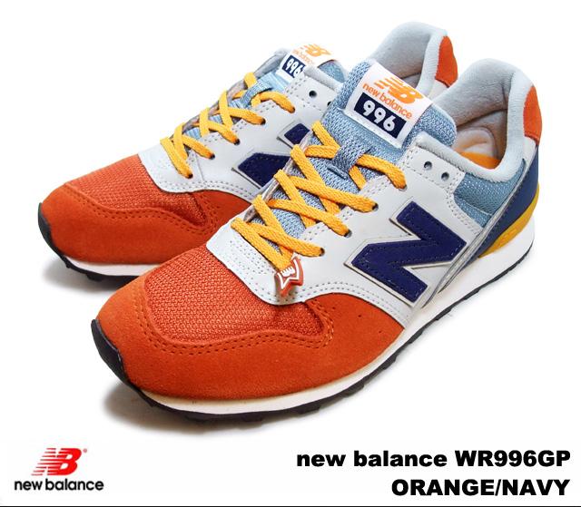 wholesale dealer da655 c50f2 New Balance 996 orange navy new balance WR996 GP newbalance WR996GP  ORANGE/NAVY Lady's sneakers