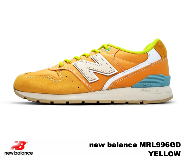 new concept 7d6f6 1e190 New Balance 996 yellow new balance MRL996 GD newbalance MRL996GD YELLOW men  gap Dis sneakers