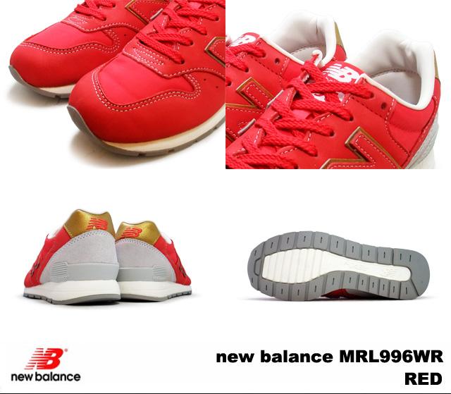 新平衡 MRL996WR 新平衡 MRL996 西铁红色和红色宽度: D
