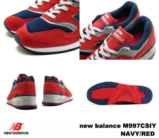 sale retailer 6a408 1906a New Balance 997 navy red new balance M997 CSIY newbalance M997CSIY NAVY/RED  men sneakers