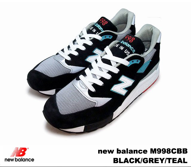 on sale 47543 7a1f4 New Balance 998 black gray Tyr new balance M998 CBB newbalance M998CBB  BLACK/GREY/TEAL men sneakers