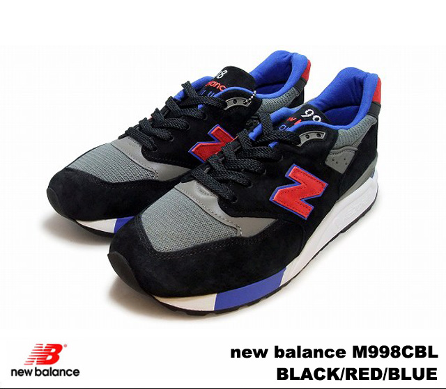 competitive price 287f9 266e6 New balance 998 black red blue new balance M998 CBL newbalance M998CBL  BLACK/RED/BLUE mens sneakers