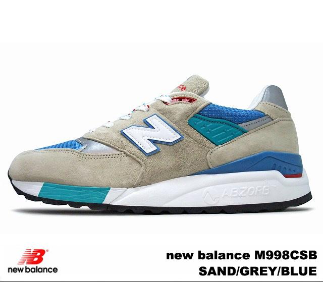 新平衡 998 砂灰色蓝色新平衡 M998 CSB newbalance M998CSB 砂/灰色/蓝色男士运动鞋