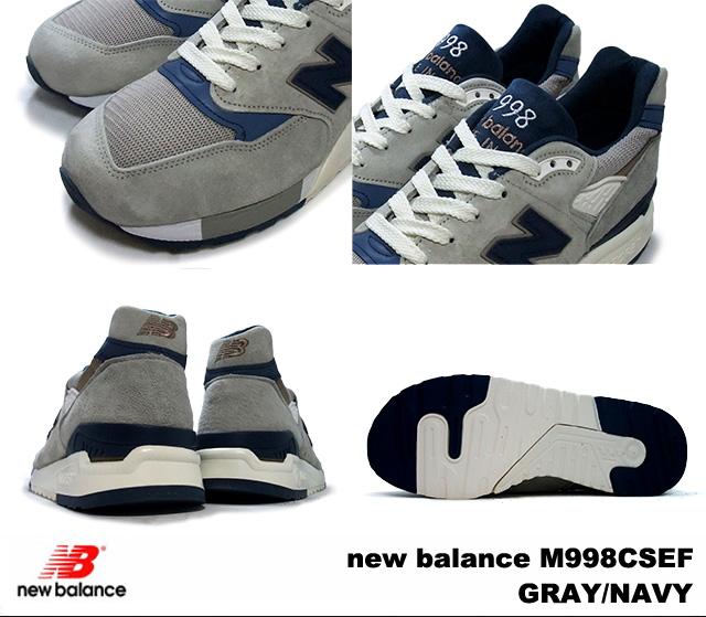 新平衡 998 灰色海军新平衡 M998 CSEF newbalance M998CSEF 灰色/海军男装运动鞋