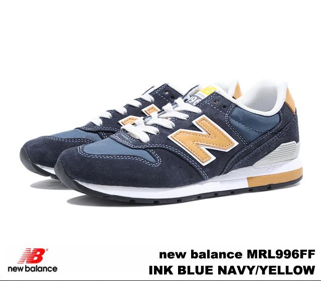 PREMIUM ONE: New Balance 996 navy yellow new balance MRL996