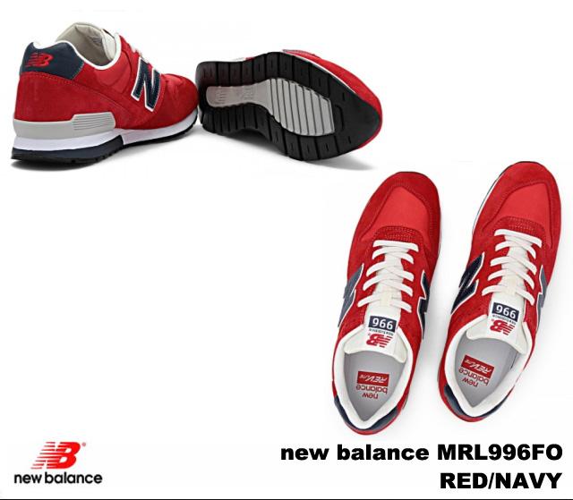 新 996 红色海军新平衡 MRL996 佛 newbalance MRL996FO 的红色海军男装女装运动鞋
