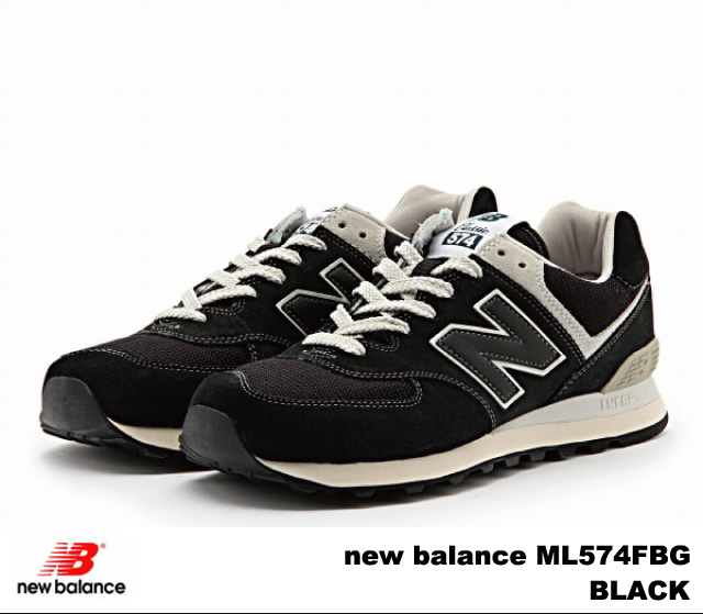 black new balance 574 mens