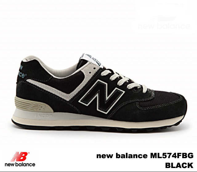 新平衡574黑色new balance ML574 FBG BLACK newbalance ML574FBG人分歧D运动鞋