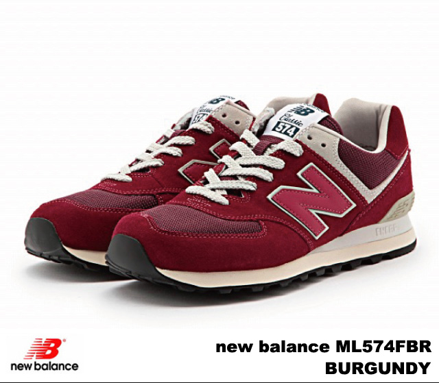 -new balance ML574FBR BURGUNDY-