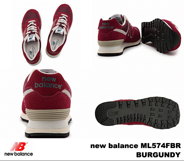 New balance 574 Burgundy new balance ML574 FBR BURGUNDY newbalance ML574FBR mens Womens sneakers
