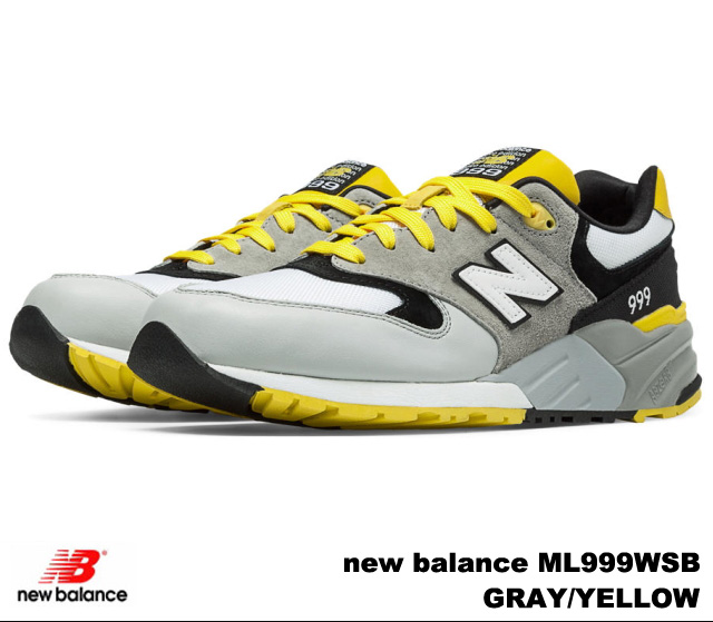 new product 9551d 8d41d New Balance 999 gray yellow new balance ML999 WSB newbalance ML999WSB GRAY  YELLOW men sneakers