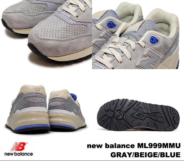 New Balance 999 gray beige blue new balance ML999 MMU newbalance ML999 MMU  GRAY BEIGE BLUE men sneakers 79e6605a7