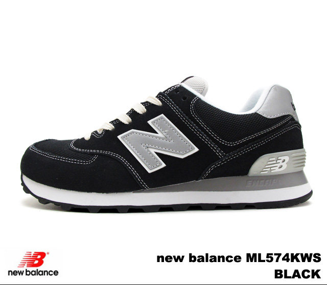 New balance 574 black mens Womens sneakers new balance ML574 KWS BLACK newbalance ML574KWS