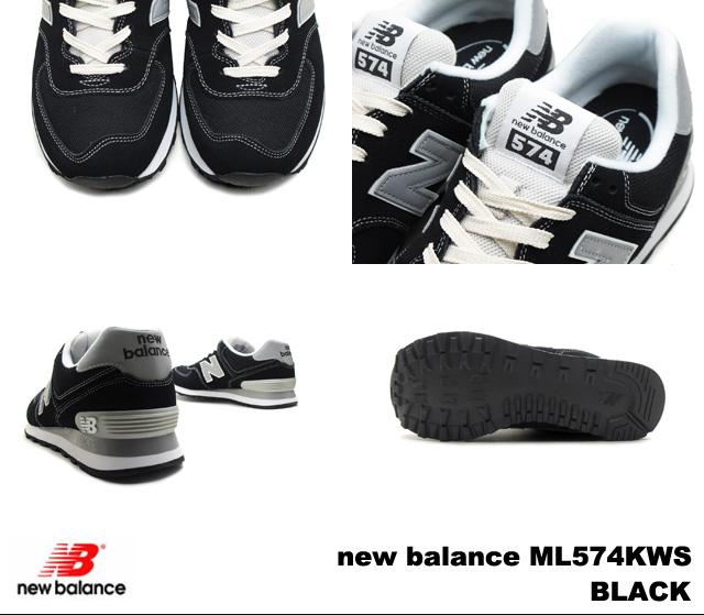 新平衡 574 黑色男装女装运动鞋新平衡 ML574 KWS 黑色 newbalance ml574ws