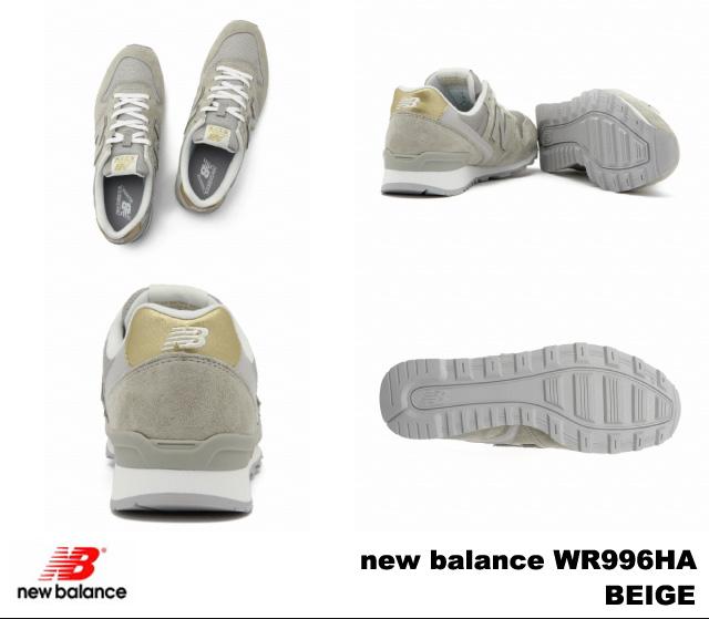新平衡 996 米色新平衡 WR996 公頃 newbalance WR996HA 米色婦女運動鞋