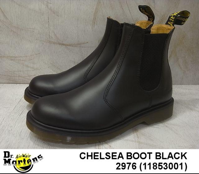 ドクターマーチン サイドゴア チェルシー レディース メンズ ブーツ ブラック Dr.Martens 2976 CHELSEA BOOT 11853001 BLACK