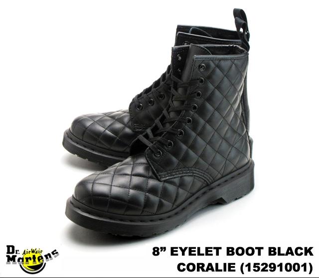 Dr.Martens/博士马丁WOMEN'S 8 EYELET BOOT CORALIE 15291001 BLACK/黑色妇女分歧D 8礼堂