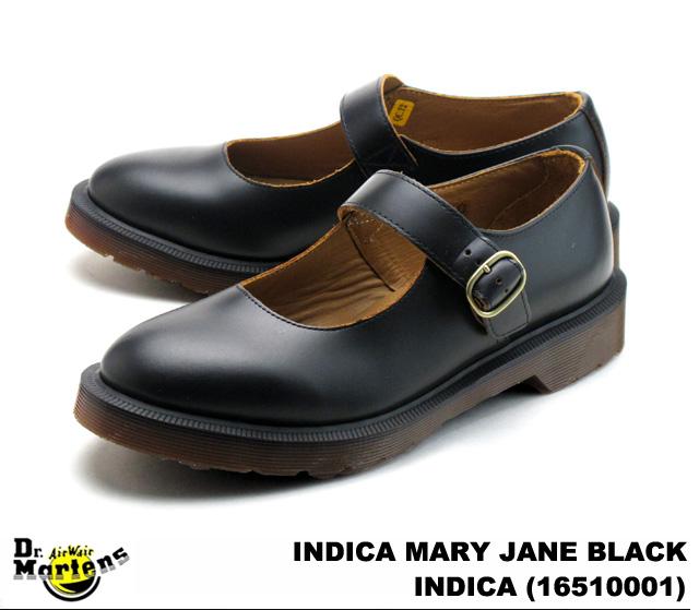 Dr.Martens/ 马滕斯妇女籼玛丽珍籼的玛丽简氏 16510001 黑色 / 黑色光滑的皮革老式复古光滑皮革女性女士