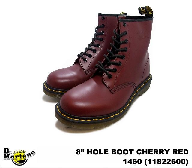 ドクターマーチン 8ホール メンズ ブーツ チェリーレッド Dr.Martens 1460 8EYE BOOT 11822600 CHERRY RED