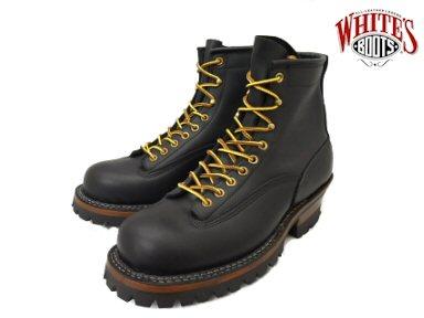 ホワイツ スモークジャンパー ホワイツブーツ ブラック メンズ ブーツ ワークブーツ White's Boots Smoke Jumper 350MVLTTRT Black vibram #100