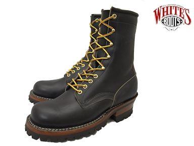 ホワイツ スモークジャンパー ホワイツブーツ ブラック クロムエクセル メンズ ブーツ ワークブーツ White's Boots Smoke Jumper 375V08 Black Chromexcel vibram #100