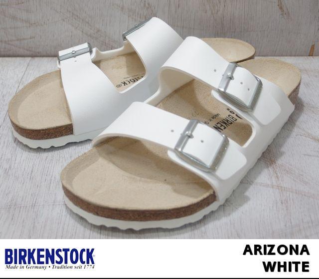 ビルケンシュトック アリゾナ メンズ レディース サンダル ホワイト BIRKENSTOCK Arizona 051731 051733 White 幅広 幅狭