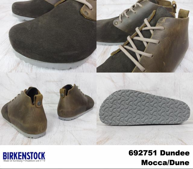 Birkenstock dandy men's women's shoes Mocha BIRKENSTOCK Dundee 692751 Moccy/dune wide