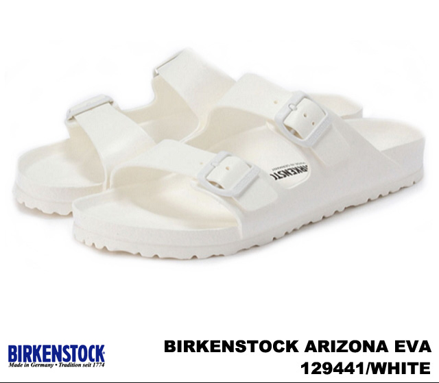 勃肯亞利桑那州 EVA 男式涼鞋黑色海軍白色勃肯亞利桑那 EVA 129421 / 黑色 129431 / 129441 深藍 / 白色寬