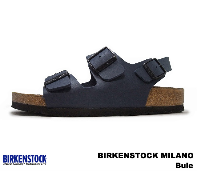 Birkenstock Milano mens Womens Sandals blue BIRKENSTOCK 034751 Milano Blue wide