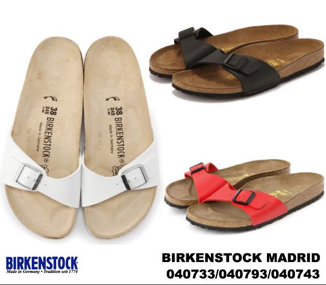 Birkenstock Madrid women's Sandals white black red BIRKENSTOCK MADRID 040733 WHITE 040793 040743 BLACK