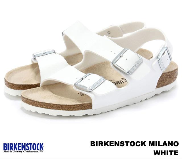 ビルケンシュトック ミラノ メンズ レディース サンダル ホワイト BIRKENSTOCK Milano 034731 034733 White 幅広 幅狭