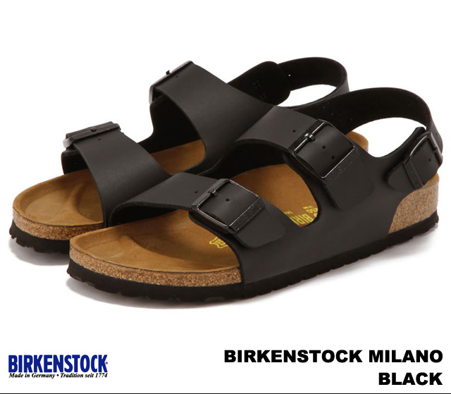 BIRKENSTOCK Birkenstock Milano Milan 034791 Schwarz [width