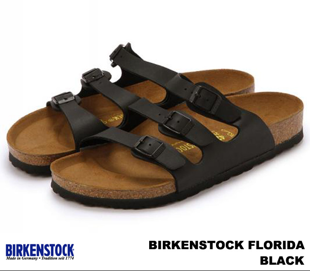 ビルケンシュトック 至上 フロリダ メンズ レディース サンダル ブラック BIRKENSTOCK 幅狭 Florida Black 幅広 054793 054791 品質保証