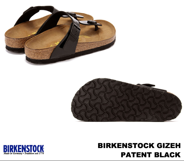043661 BIRKENSTOCK/ ビルケンシュトック Gizeh/ ギゼ BLACK PATENT [width:] normal]